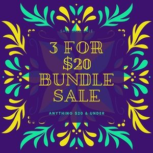 3 FOR $20 ANYTHING $20 & UNDER